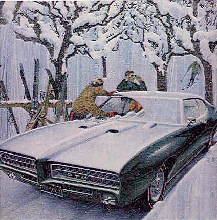 Pontiac GTO in the snow