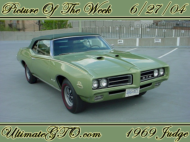 1969 Pontiac Gto Judge Convertible. Limelight Green 1969 Judge